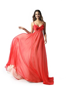 Ericdress Floor-Length Sweep/Brush Ruched A-Line Prom Dress 2020