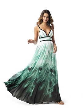 Ericdress Spaghetti Straps Pleats Sleeveless Prom Dress 2020