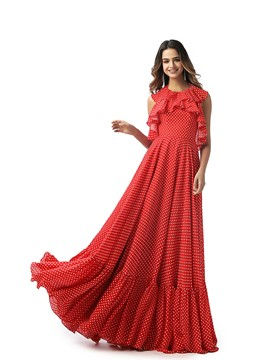 Ericdress Ruffles Halter Floor-Length Sleeveless Prom Dress 2020