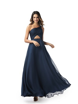 Ericdress A-Line Sleeveless One Shoulder Prom Dress 2020