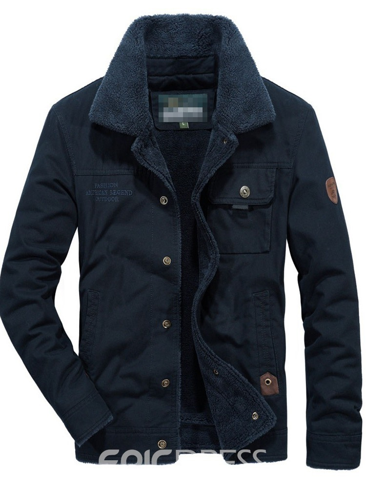 Ericdress Standard Lapel Patchwork Casual Single-Breasted Men's Down Jacket