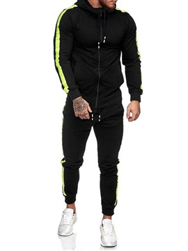 Ericdress Pocket Hoodie Color Block Men's Outfit