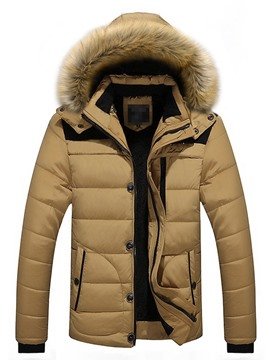 Ericdress Standard Hooded Zipper Men's Down Jacket
