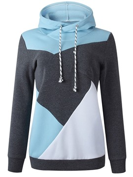 Ericdress Geometric Hooded Women's Long Sleeve Hoodie