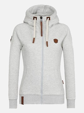 Ericdress Regular Zipper Long Sleeve Women's Standard Hoodie