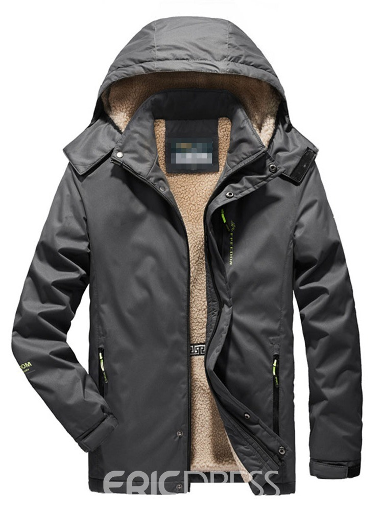 Ericdress Hooded Casual Men's Down Jacket