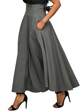Ericdress Expansion Plain Pocket Skirt