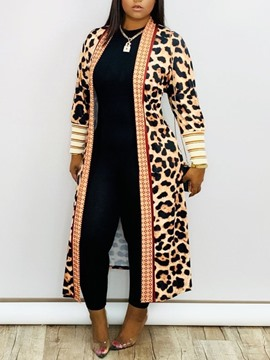 Ericdress Print Long Sleeve Western Women's Trench Coat