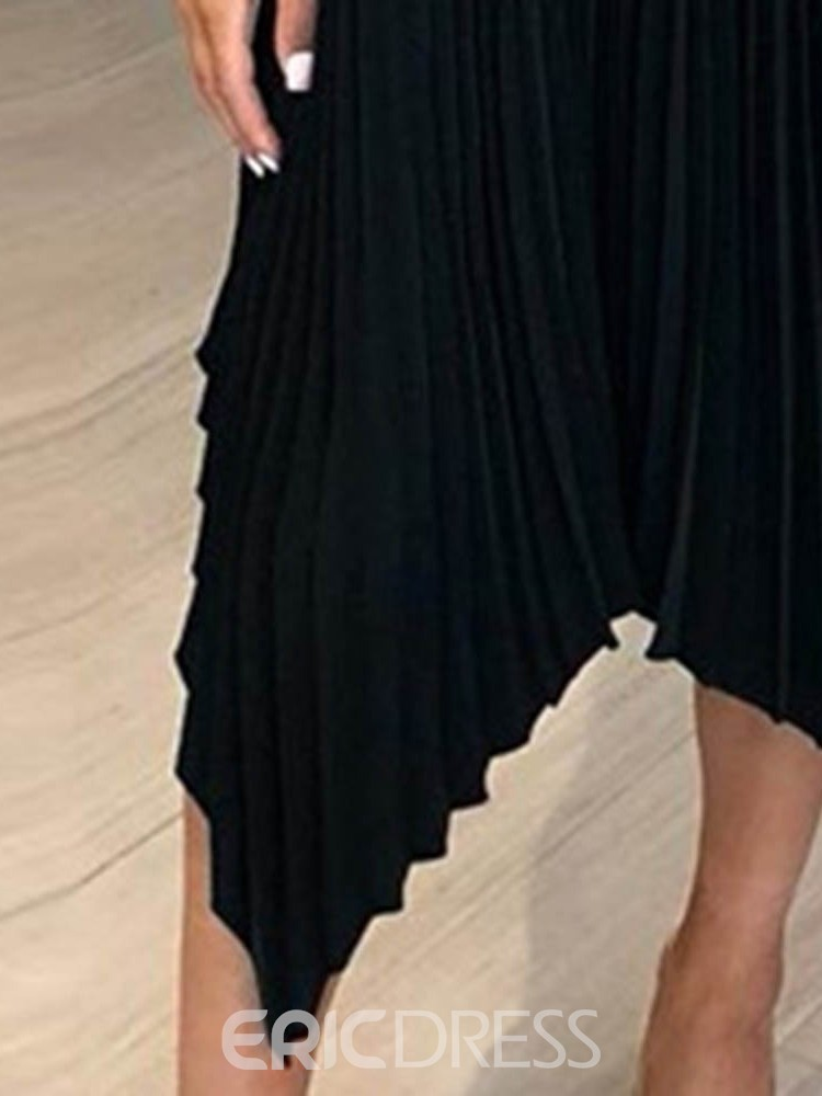 Ericdress Sleeveless Mid-Calf Pleated Party/Cocktail Summer Dress