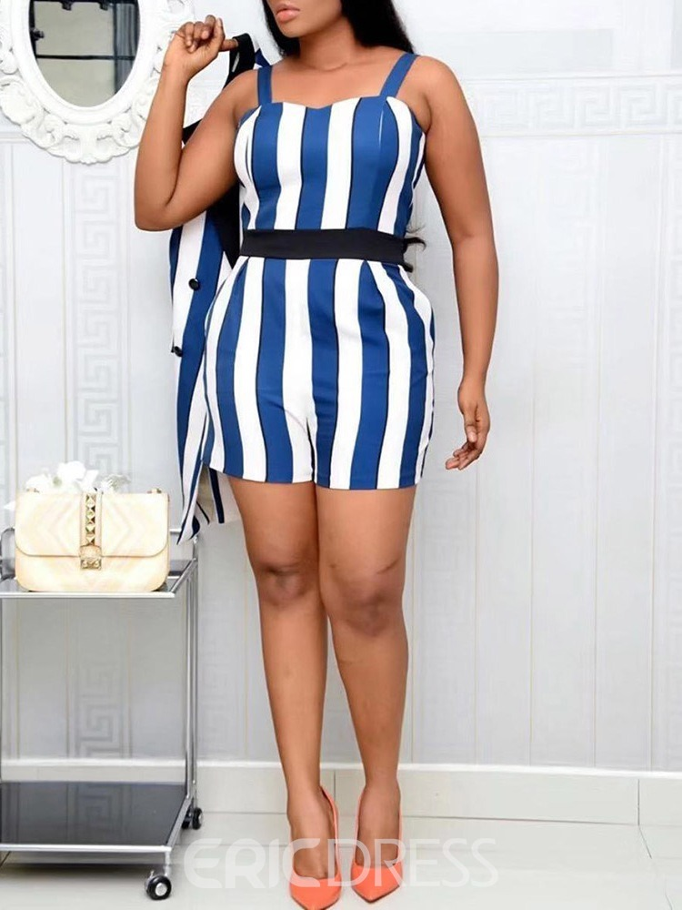 Ericdress Casual Stripe Two Piece Sets