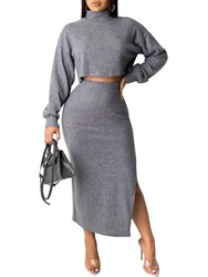 Ericdress Plain Pullover Casual Slim Two Piece Sets