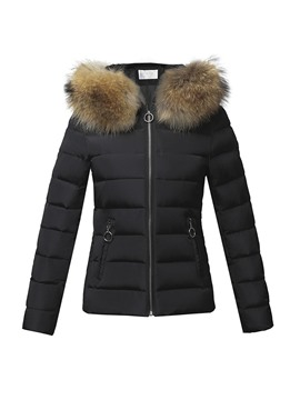 Ericdress Slim Patchwork Zipper Standard Women's Cotton Padded Jacket