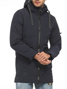 Ericdress Patchwork Hooded Plain Zipper Casual Men's Down Jacket