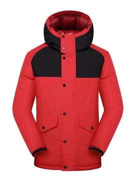 Ericdress Zipper Hooded Standard Zipper Casual Men's Down Jacket