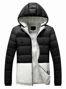 Ericdress Letter Standard European Zipper Men's Down Jacket
