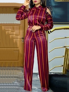 Ericdress Stripe Straight Two Piece Sets