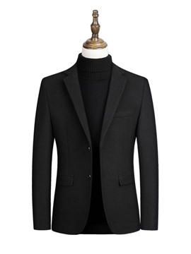Ericdress Plain Single-Breasted Men's Slim Blazer