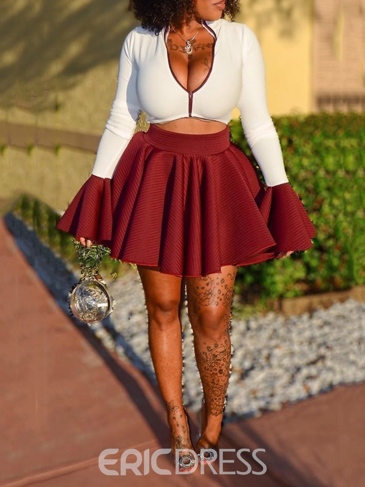 Ericdress Sexy Plain Casual Two Piece Sets