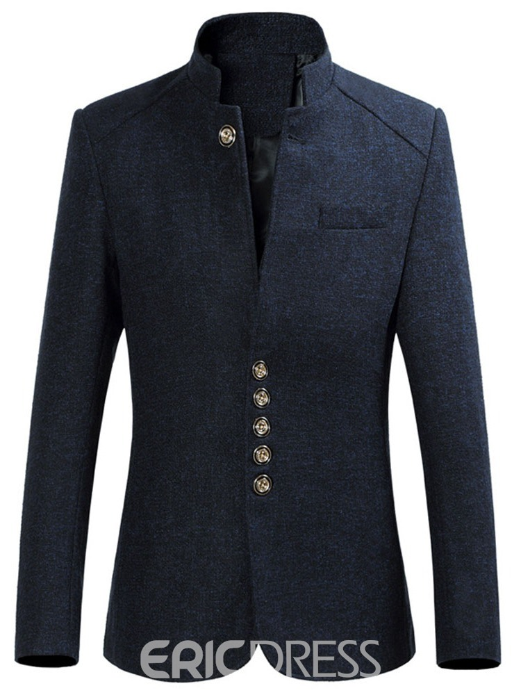Ericdress Collar Standard Button Men's Slim Coat
