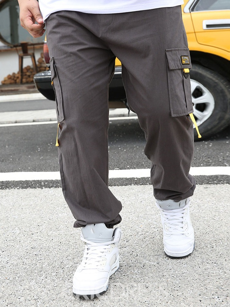 Ericdress Straight Pocket Thin Hip Hop Men's Casual Pants