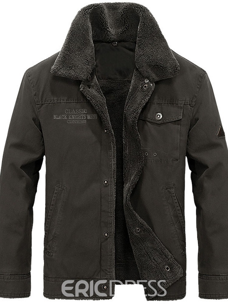 Ericdress Standard Plain Pocket European Single-Breasted Men's Down Jacket