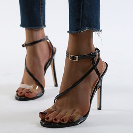 Ericdress Stiletto Heel Open Toe Line-Style Buckle Thread Women's Sandals