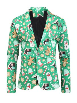 Ericdress Print Cartoon Christmas Casual Men's Leisure Blazers