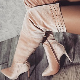 Ericdress Pointed Toe Stiletto Heel Customized Knee High Boots