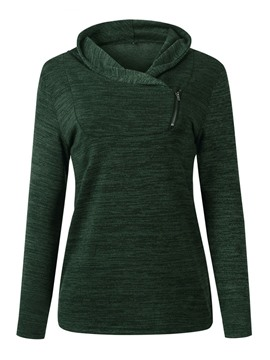 Ericdress Plain Long Sleeve Women's Mid-Length Hoodie