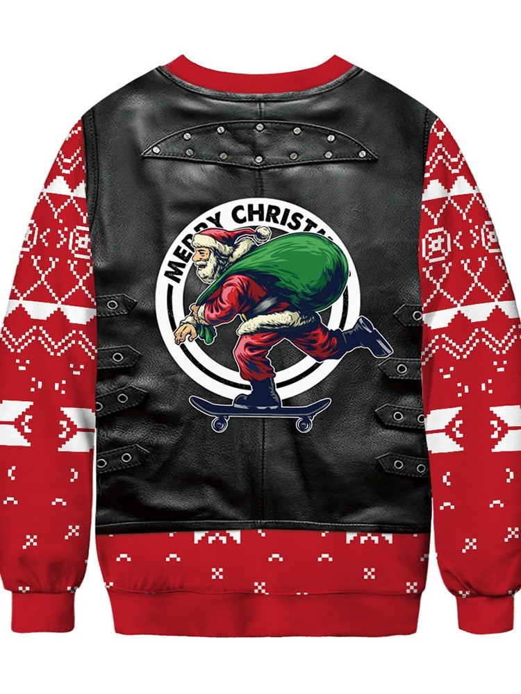 Ericdress Christmas Pullover Print Thick Round Neck Fashion Men's Hoodies