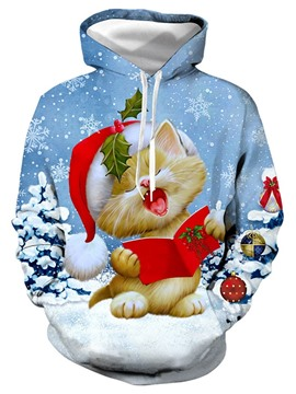 Ericdress Print Christmas Cartoon Pullover Loose Men's Hoodies