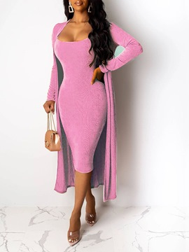 ericdress sexy dress plain bodycon zweiteilige sätze
