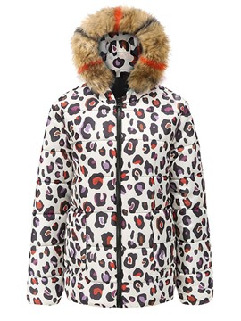 Ericdress Leopard Zipper Straight Thick Mid-Length Cotton Padded Jacket