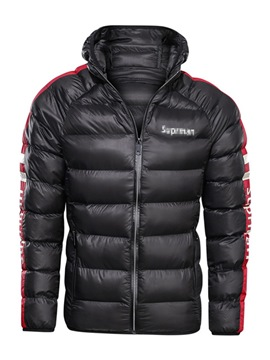 Ericdress Zipper Hooded Thick Casual Men's Down Jacket