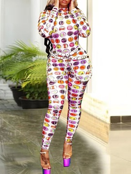 Ericdress Full Length Cartoon Print Skinny Jumpsuit