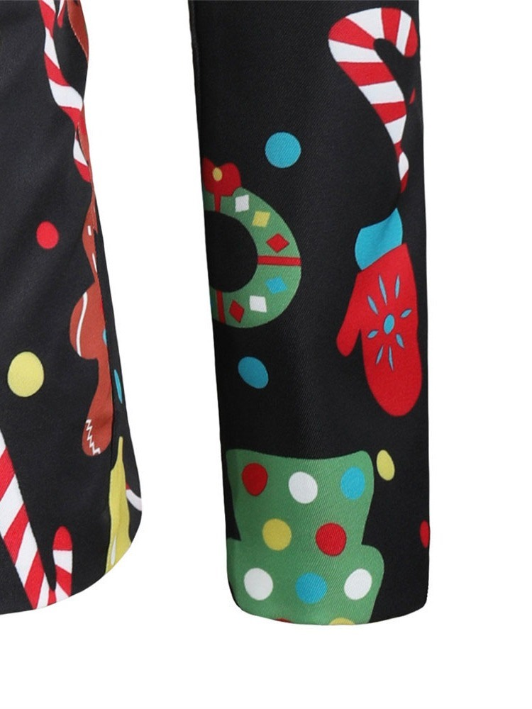 Ericdress Christmas Notched Lapel Printed Leisure Blazers