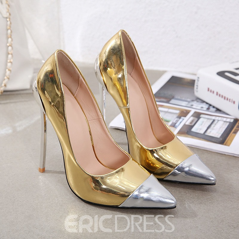 Ericdress Pointed Toe Thread Slip-On Banquet Pumps