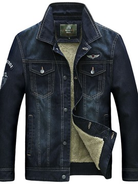 Ericdress Patchwork Lapel Straight Style Men's Jacket