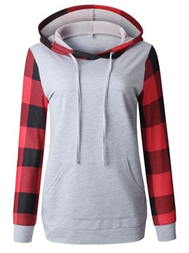 Ericdress Color Block Women's Mid-Length Hoodie