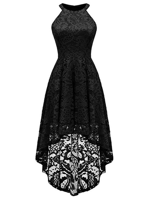 Ericdress Round Neck Sleeveless Mid-Calf Party/Cocktail Floral Dress