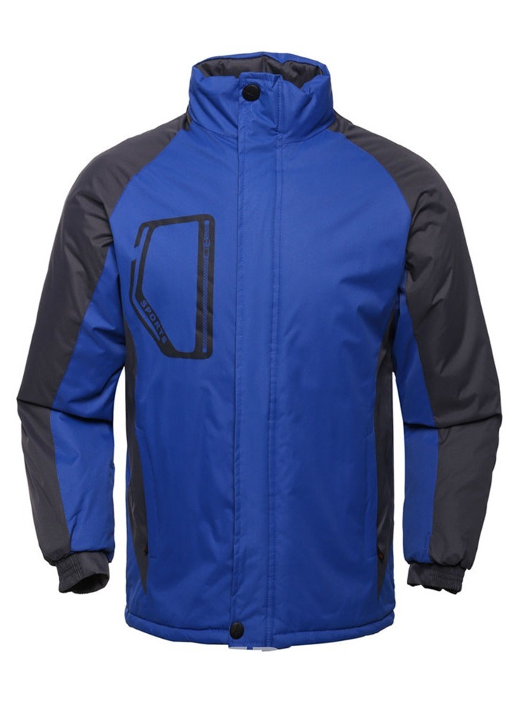 Ericdress Block Stand Collar Casual Men's Down Jacket