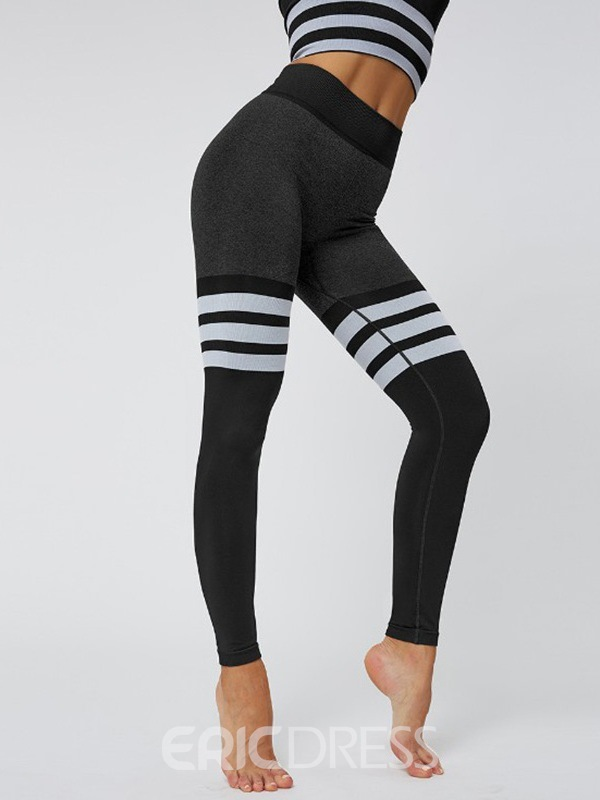 Ericdress Seamless Joint Stripe Nylon Pullover Yoga Clothing Sets