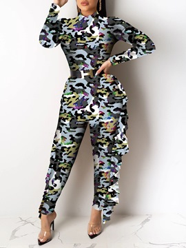 Ericdress African Fashion Casual Skinny Jumpsuit