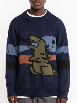 Ericdress Round Neck Standard Cartoon Men's Loose Sweater