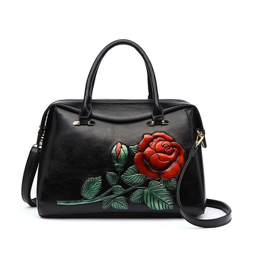 Ericdress PU Floral Embossing Rectangle Tote Bags