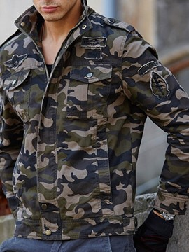 Ericdress Camouflage Stand Collar Zipper Style Men's Jacket