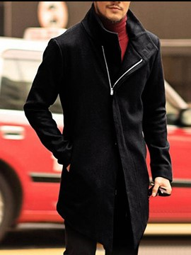 Ericdress Plain Pocket Mid-Length Style Slim Korean Men's Coat