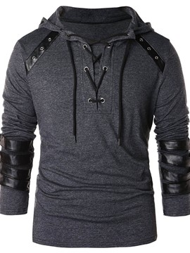 Ericdress Patchwork Color Block Pullover Style Men's Hoodies