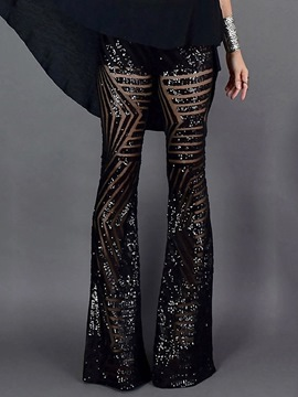 Ericdress Sequins Slim High Waist Casual Pants