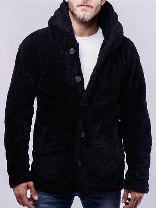 Ericdress Button Cardigan Thick Style Men's Casual Hoodies